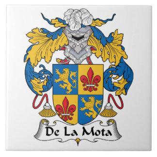 Escudo de De La Mota Family Azulejo Cuadrado Grande
