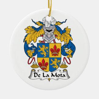 Escudo de De La Mota Family Adorno Redondo De Cerámica
