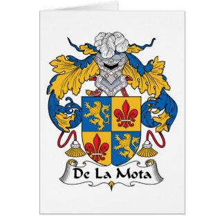 Escudo de De La Mota Family Tarjeta De Felicitación