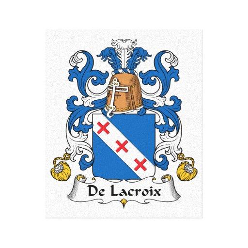 Escudo de De Lacroix Family Lona Estirada Galerías