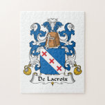 Escudo de De Lacroix Family Rompecabeza Con Fotos