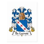 Escudo de De Lacroix Family Tarjeta Postal