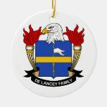 Escudo de De Lancey Family Adornos De Navidad
