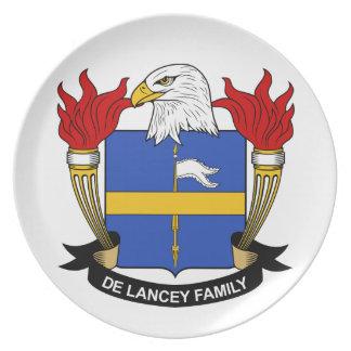 Escudo de De Lancey Family Platos