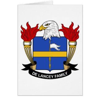 Escudo de De Lancey Family Tarjeta De Felicitación