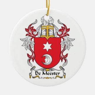 Escudo de De Meester Family Adorno Redondo De Cerámica
