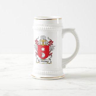 Escudo de De Meester Family Jarra De Cerveza