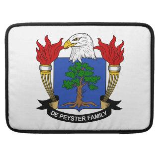 Escudo de De Peyster Family Funda Para Macbooks