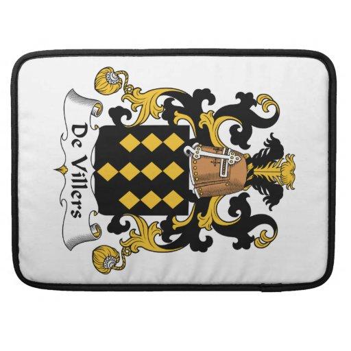 Escudo de De Villers Family Funda Para Macbooks