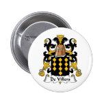 Escudo de De Villers Family Pin