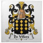 Escudo de De Villers Family Servilleta