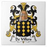 Escudo de De Villers Family Teja Ceramica