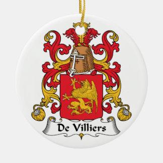 Escudo de De Villiers Family Adorno Navideño Redondo De Cerámica