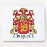Escudo de De Villiers Family Alfombrillas De Raton