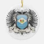 Escudo de Delaware Ornamento De Navidad