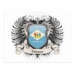 Escudo de Delaware Tarjetas Postales