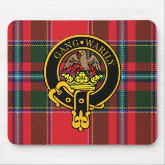 Escudo de Drummond y cojín de ratón escoceses del