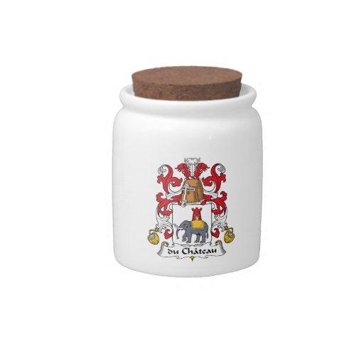 escudo de du Chateau Family Jarras Para Caramelos