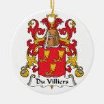 Escudo de Du Villiers Family Ornamentos De Reyes Magos