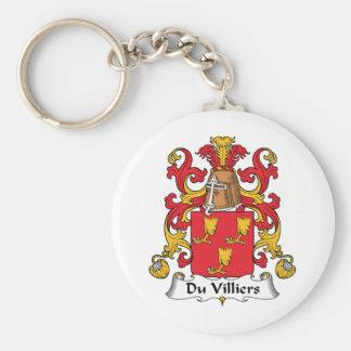 Escudo de Du Villiers Family Llavero Redondo Tipo Pin