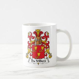 Escudo de Du Villiers Family Tazas De Café