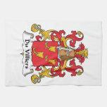 Escudo de Du Villiers Family Toalla De Mano