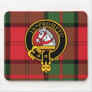 Escudo de Dunbar y cojín de ratón escoceses del ta