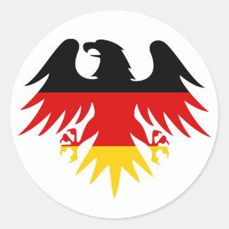 Escudo de Eagle del alemán Pegatina Redonda