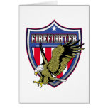 Escudo de Eagle del bombero Felicitación
