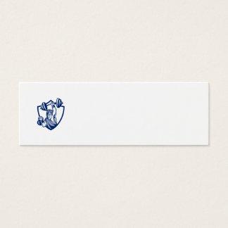 Escudo de elevación de Kettlebell del Barbell de Tarjetas De Visita Mini