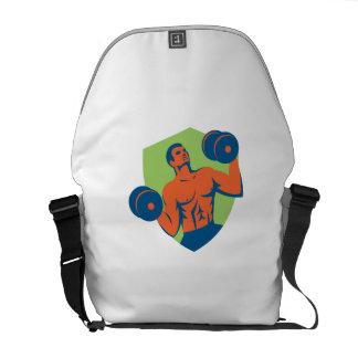 Escudo de elevación de las pesas de gimnasia del bolsas messenger