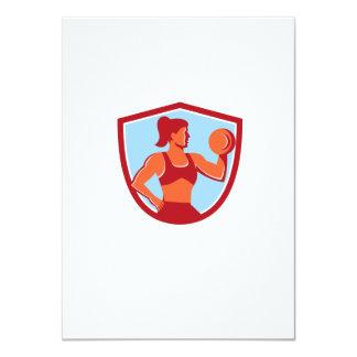 """Escudo de elevación femenino de la pesa de invitación 4.5"""" x 6.25"""""""