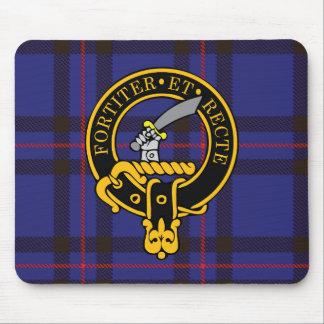 Escudo de Eliott y cojín de ratón escoceses del ta