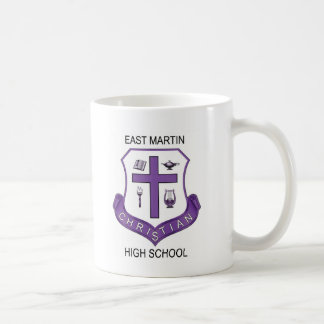 Escudo de EMCHS en la taza de café