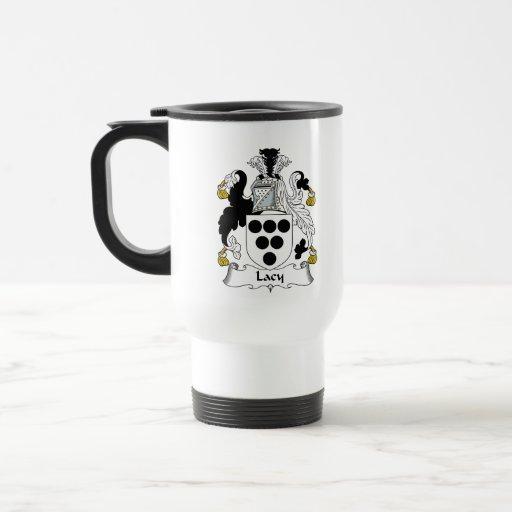 Escudo de encaje de la familia taza de café