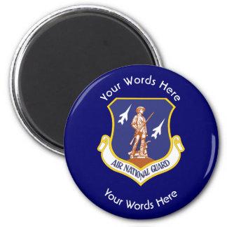 Escudo de encargo del Guardia Nacional del aire Imán Redondo 5 Cm