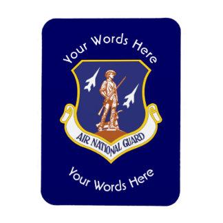 Escudo de encargo del Guardia Nacional del aire Imanes De Vinilo