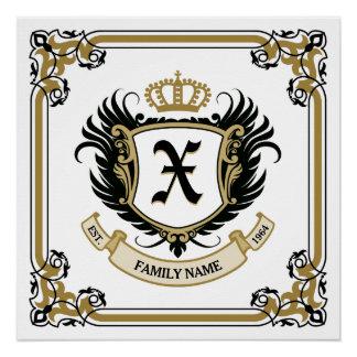 Escudo de encargo personalizado de la familia del  perfect poster