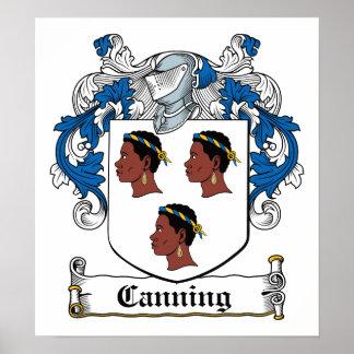 Escudo de enlatado de la familia póster