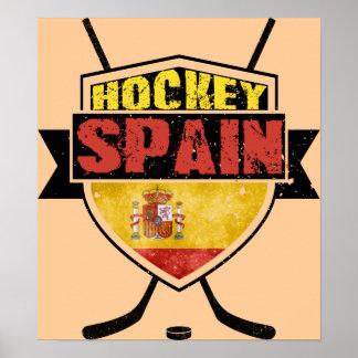 Escudo de España del hockey sobre hielo Póster