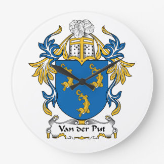 Escudo de Family de Van der Put Reloj De Pared