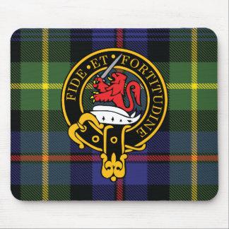 Escudo de Farquharson y cojín de ratón escoceses d Tapetes De Ratones