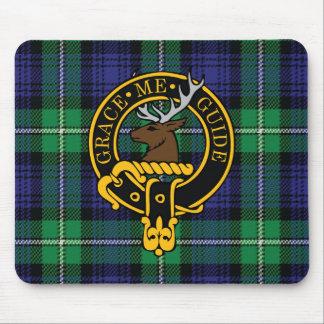 Escudo de Forbes y cojín de ratón escoceses del ta