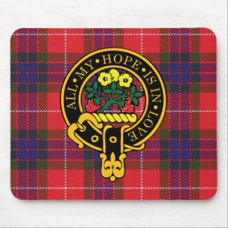 Escudo de Fraser y cojín de ratón escoceses del ta