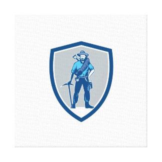 Escudo de Frontpack de la piqueta del minero de Lona Estirada Galerias