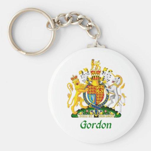 Escudo de Gordon de Gran Bretaña Llaveros