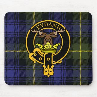 Escudo de Gordon y cojín de ratón escoceses del ta