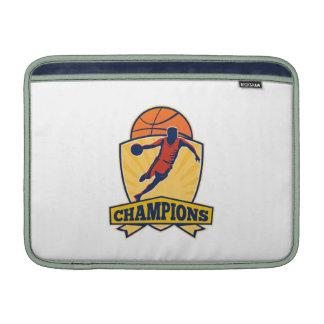 Escudo de goteo de la bola del jugador de básquet  funda para macbook air