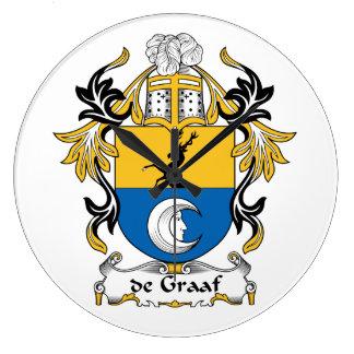 escudo de Graaf Family Reloj Redondo Grande
