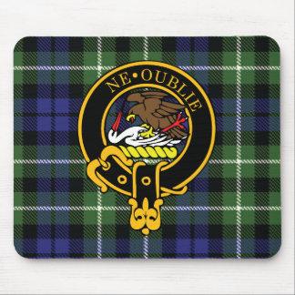 Escudo de Graham y cojín de ratón escoceses del ta